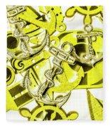 Anchors Above - Icons Below Fleece Blanket