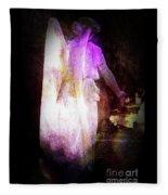 Angel In Black Fleece Blanket