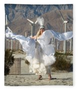 Angel Swirling In The Desert Fleece Blanket