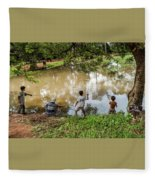 Angkor Fishing Family Fleece Blanket