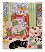 Animal Family 1 Fleece Blanket