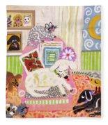 Animal Family 2 Fleece Blanket
