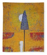 Another Day At The Office Original Painting Fleece Blanket