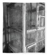 Antique Bird Cage Fleece Blanket