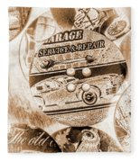 Antique Service Industry Fleece Blanket