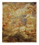 Apollo In The Chariot Of The Sun             Fleece Blanket