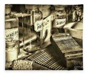 Apothecary-vintage Pill Maker Sepia Fleece Blanket
