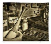 Apothecary-vintage Pill Roller Sepia Fleece Blanket