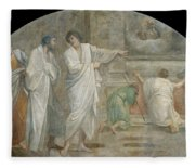 Apparition Of Saint Didacus Above His Sepulchre  Fleece Blanket