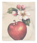 Apple And Blossoms Fleece Blanket