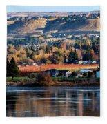 Apple Country Along The Columbia River Fleece Blanket