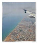 approach to Ben Gurion Airport, Israel w4 Fleece Blanket