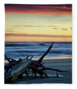 Approaching Tide Fleece Blanket
