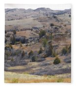 April Badlands Near Amidon Fleece Blanket