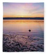 April Dawn On The Hudson River II Fleece Blanket