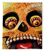 Aranas Sugarskull Of Spiders Fleece Blanket