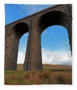 Arches And Piers Of The Ribblehead Viaduct North Yorkshire Fleece Blanket