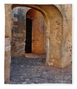 Arches Of A Medieval Castle Entrance In Algarve Fleece Blanket