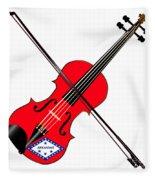 Arkansas State Fiddle Fleece Blanket