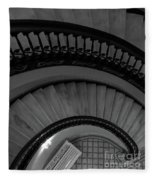 Arlington Stairs Layers Grayscale Fleece Blanket
