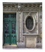 Art Deco Doorway Fleece Blanket