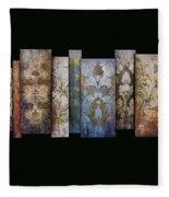 Art Panels - Antique Wallpaper  Fleece Blanket