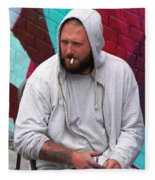 Artist Frown Fleece Blanket