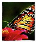 Artistic Monarch Fleece Blanket