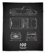 The Austin-healey 100 Fleece Blanket