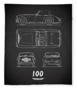 The Austin-healey 100 Fleece Blanket