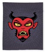 Mad Devil Fleece Blanket by John Schwegel