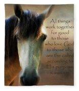 If Horses Could Talk - Verse Fleece Blanket