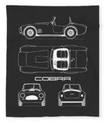 Ac Cobra Blueprint Fleece Blanket