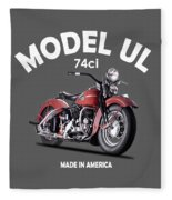Harley-davidson Ul 1941 Fleece Blanket