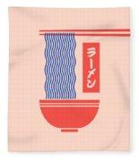 Ramen Japanese Food Noodle Bowl Chopsticks - Salmon Fleece Blanket