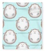 Zen Hedgehog Meditating Fleece Blanket