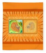 Lion Pair Warm Fleece Blanket