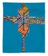 The Abstract Cross Fleece Blanket