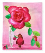 R Is For Rose And Robin Fleece Blanket