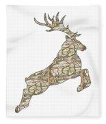 Reindeer - Holiday - North Pole Fleece Blanket