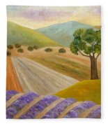 Lavender Sundown Fleece Blanket