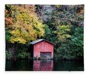 Red Boathouse Fleece Blanket