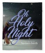 Savior's Birth Fleece Blanket