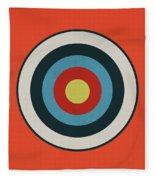 Vintage Target - Orange Fleece Blanket