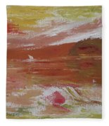 Birds And Sailboat In Paradise Fleece Blanket