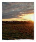 Mount Mansfield September Sunrise Seven Fleece Blanket