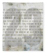 Psalm 23 Light Fleece Blanket