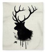 Elk Fleece Blanket by Nicklas Gustafsson