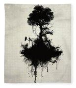 Last Tree Standing Fleece Blanket by Nicklas Gustafsson