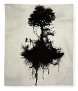 Last Tree Standing Fleece Blanket